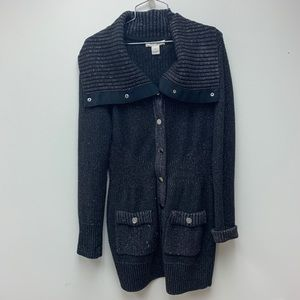 White House Black Market Sparkle Cardigan Small